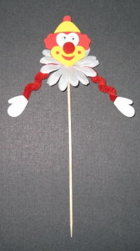 EVA and Chenille Party Clown Pick