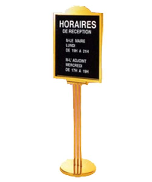 Sign Stand Gold Color