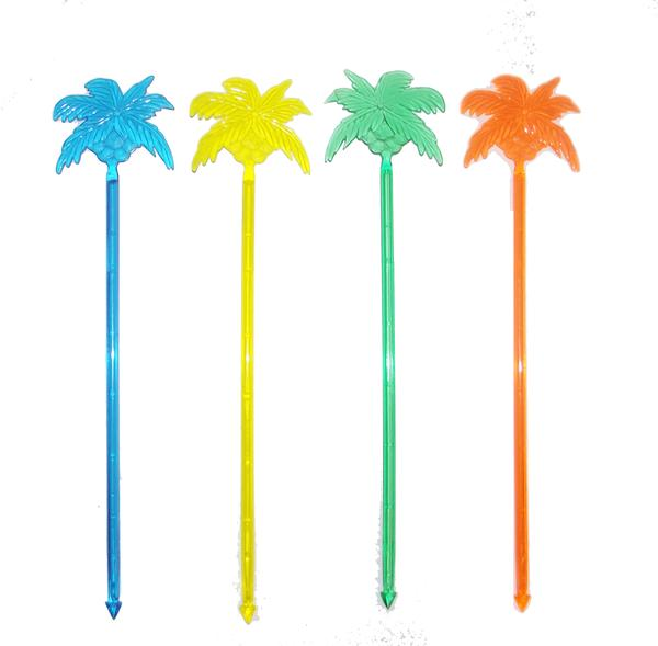 Plastic Palm Tree Long Stirrer