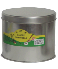 Large Tin Filled<p/>Candle Citronella